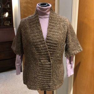 Tweeds wool blend short sleeve cardigan.